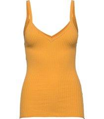 anett t-shirts & tops sleeveless geel fall winter spring summer