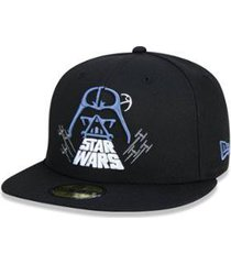 boné 59fifty fechado star wars darth vader new era masculino