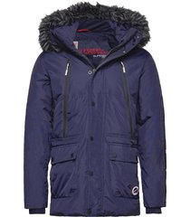canadian mountain range down parka parka jas blauw superdry