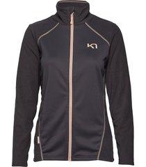 kari f/z fleece sweat-shirt tröja svart kari traa