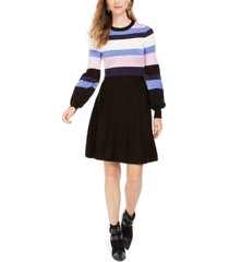 vince camuto colorblocked sweater dress