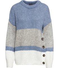 maglione oversize con bottoni (blu) - bodyflirt