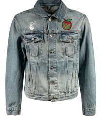 off-white apple slim denim jacket