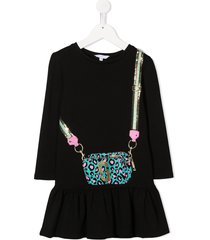 the marc jacobs kids crossbody bag-print dress - black