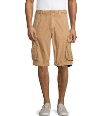jetlag men's cotton cargo shorts - white - size 31