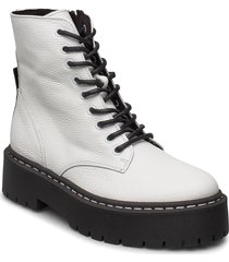 skylar shoes boots ankle boots ankle boot - flat vit steve madden