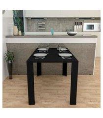 mesa jantar liv preta appunto móveis