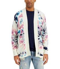 sun + stone men's men's tie-dye cardigan sweater, created for macy's