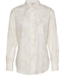 kasvio unikko shirt overhemd met lange mouwen beige marimekko