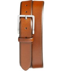 men's johnston & murphy leather belt, size 38 - tan