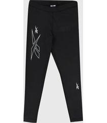 leggings negro-blanco reebok myt high rise