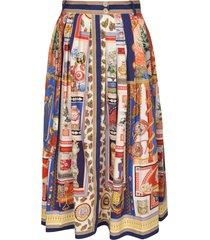 etro multi print long length skirt