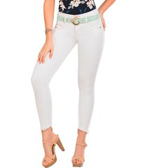jeans push up aire blanco tyt