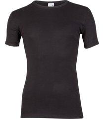 beeren shirt 100% katoen extra lang + 5cm.-xxl-zwart