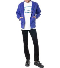 acne studios electric blue cotton hoodie sweatshirt
