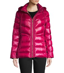 hooded down puff jacket