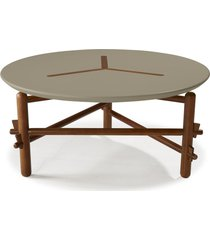 mesa de centro twist 761 cacau/cinza - maxima
