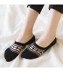calzino da donna in cotone antiscivolo invisibile con calze in cotone