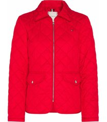 chaqueta im quilted rojo tommy hilfiger