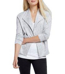 women's nic+zoe leo leopard print jacket, size xx-large - grey