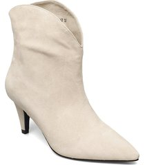 boot 4,5 cm shoes boots ankle boots ankle boot - heel vit sofie schnoor