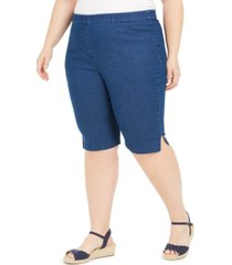 alfred dunner plus size pull-on shorts