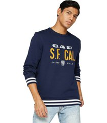 camiseta azul navy-amarillo gap