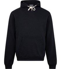 john elliott black cotton hoodie