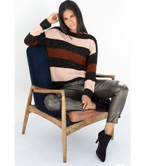 trui amy vermont zwart::roze::bruin