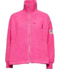 kathryn pile zip sweater sweat-shirt trui roze svea