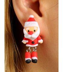 christmas santa claus handmade polymer clay earrings