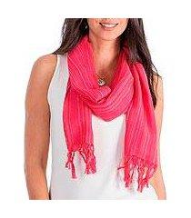 cotton scarf, 'monterrico rose' (guatemala)