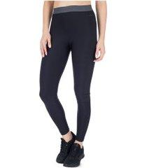 calça legging memo cós elástico mescla - feminina - preto