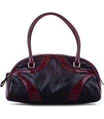 prada pre-owned drive bowler tote bag - black