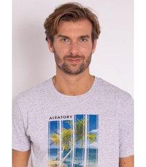 camiseta aleatory estampada film - masculina - masculino