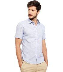 camisa esprit casual azul - calce slim fit