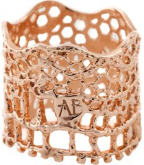 aurelie bidermann 'vintage lace' ring - metallic