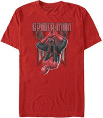 marvel men's spider-man far from home spider-man hanging around short sleeve t-shirt