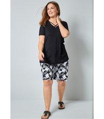 shorts janet & joyce vit::svart