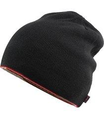 berretto in cotone a righe rigide berretto in cotone protezione dell'orecchio cappello caldo antivento bifacciale doppio uso