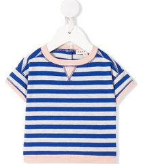 caramel balham striped t-shirt - blue