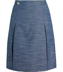 tommy hilfiger women's pleated a-line skirt - indigo - size 8