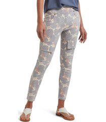 utopia by hue denim tropical print capri leggings, online only
