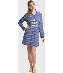 camisola mon amour jersey elastano dream queen azul - calce regular