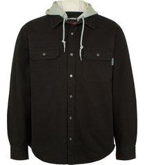 wolverine men's overman shirt jac big & tall black, size 3x