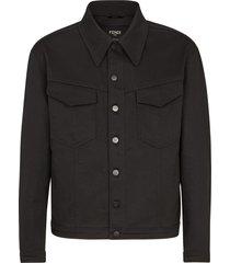 classic patch pocket jacket, black