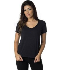 t-shirt daniela cristina gola v profundo 09 basica 602dc10309 preto - preto - pp - feminino