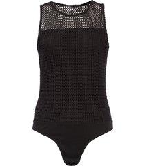 women's madewell mesh thong bodysuit