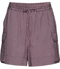 stretchable seersucker shorts flowy shorts/casual shorts rosa ganni