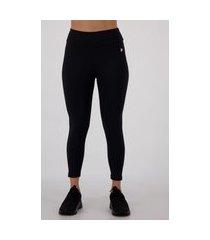 calça legging fila flat life feminina preta